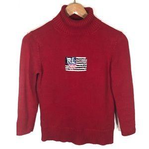 Vintage Ralph Lauren Sequin American Flag Sweater